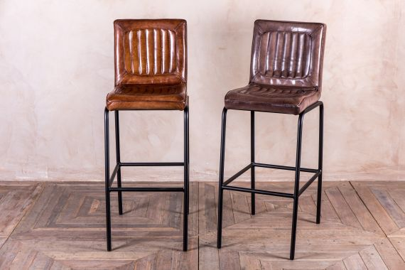 Outstanding Leather Bar Stools Vintage Style Stool Peppermill Interiors Ibusinesslaw Wood Chair Design Ideas Ibusinesslaworg