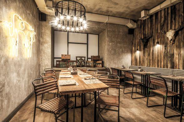 Industrial Style Restaurant Interior Peppermill Interiors