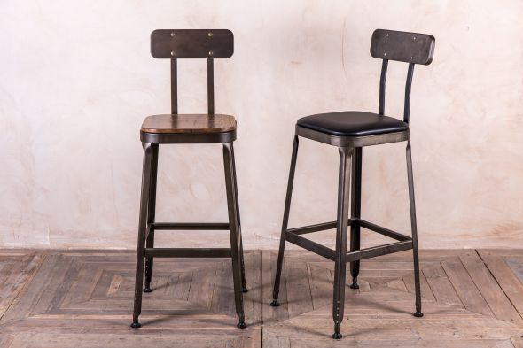 metal industrial look bar stools