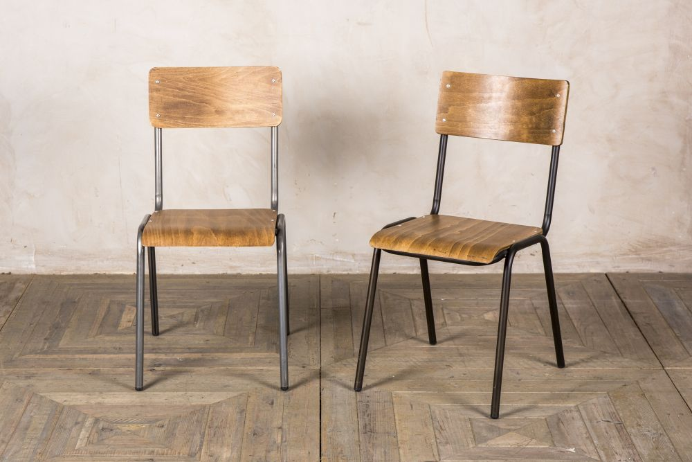 school style stackable cafe chairs