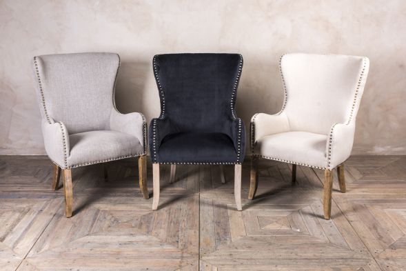 Upholstered Carver Chairs
