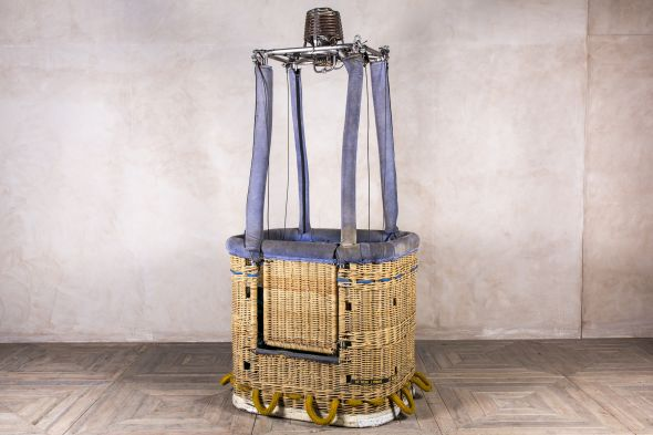 vintage hot air balloon basket