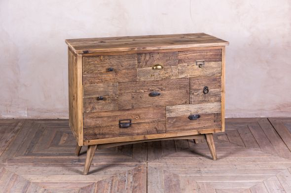 reclaimed pine chest of drawers