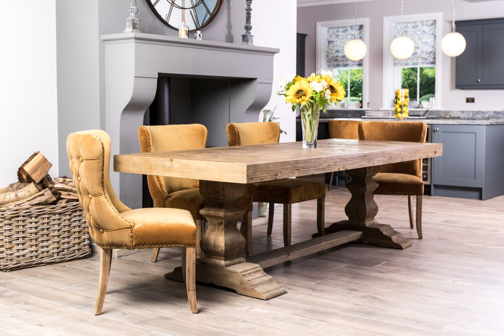 large double pedestal dining table
