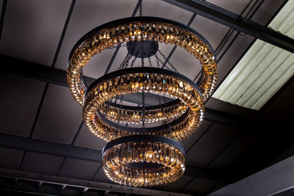 Crystal chandelier pendant light peppermill interiors aloadofball Gallery