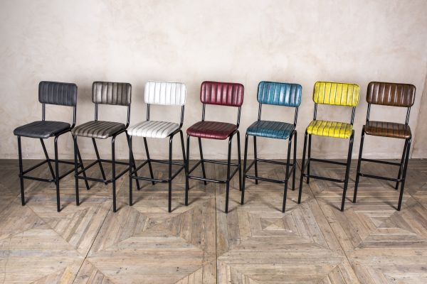colourful contemporary bar stools
