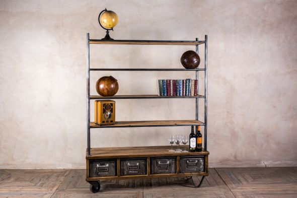 Industrial Shelves with Drawers