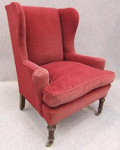 Victorian winged armchair