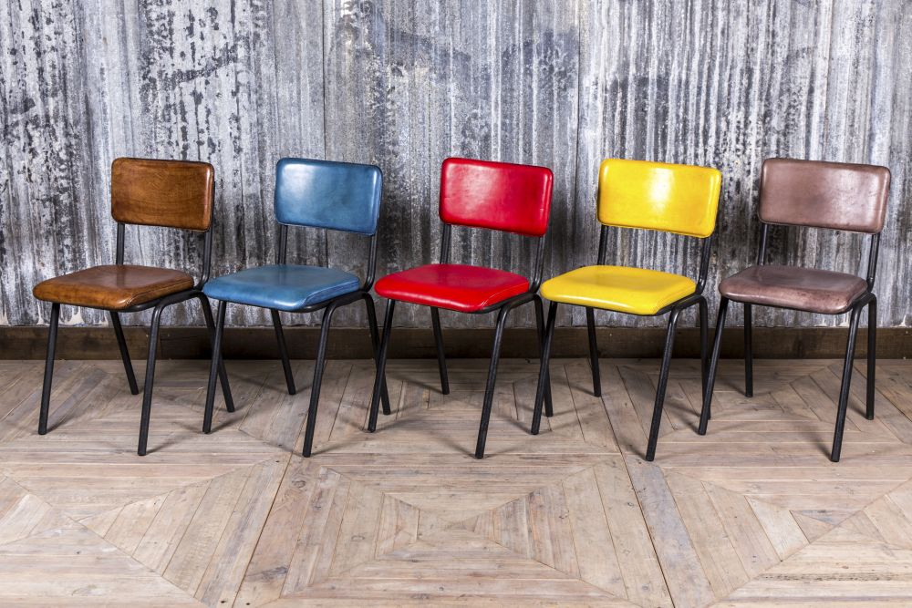 colourful leather chairs