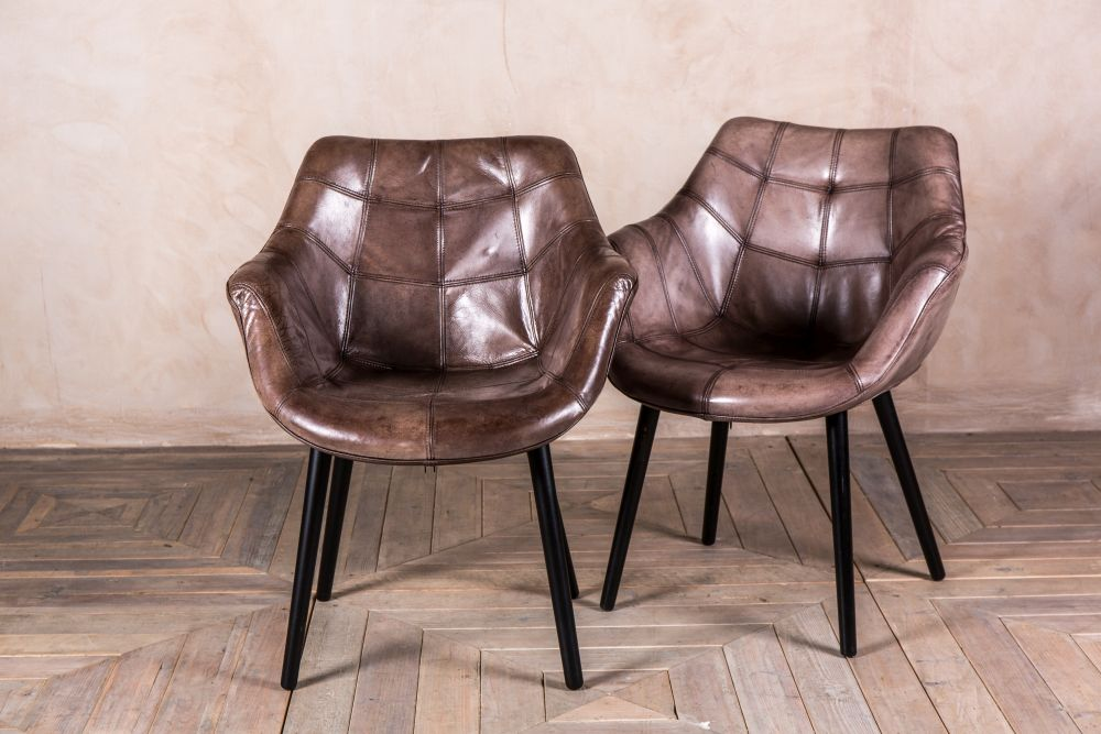VINTAGE STYLE LEATHER CHAIR ARMCHAIR