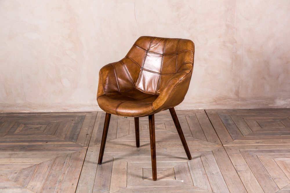 tan leather bucket chair