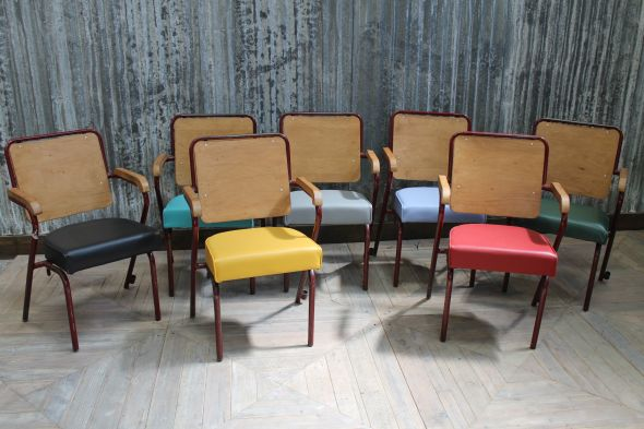 colourful folding seat chairs