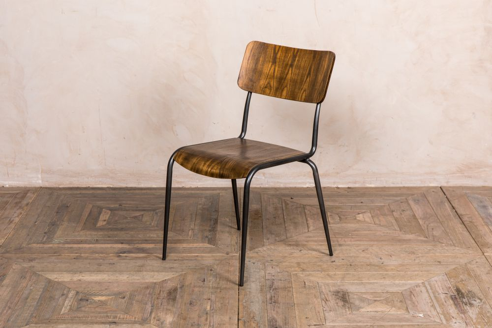 cosmo wooden restaurant stacking chair