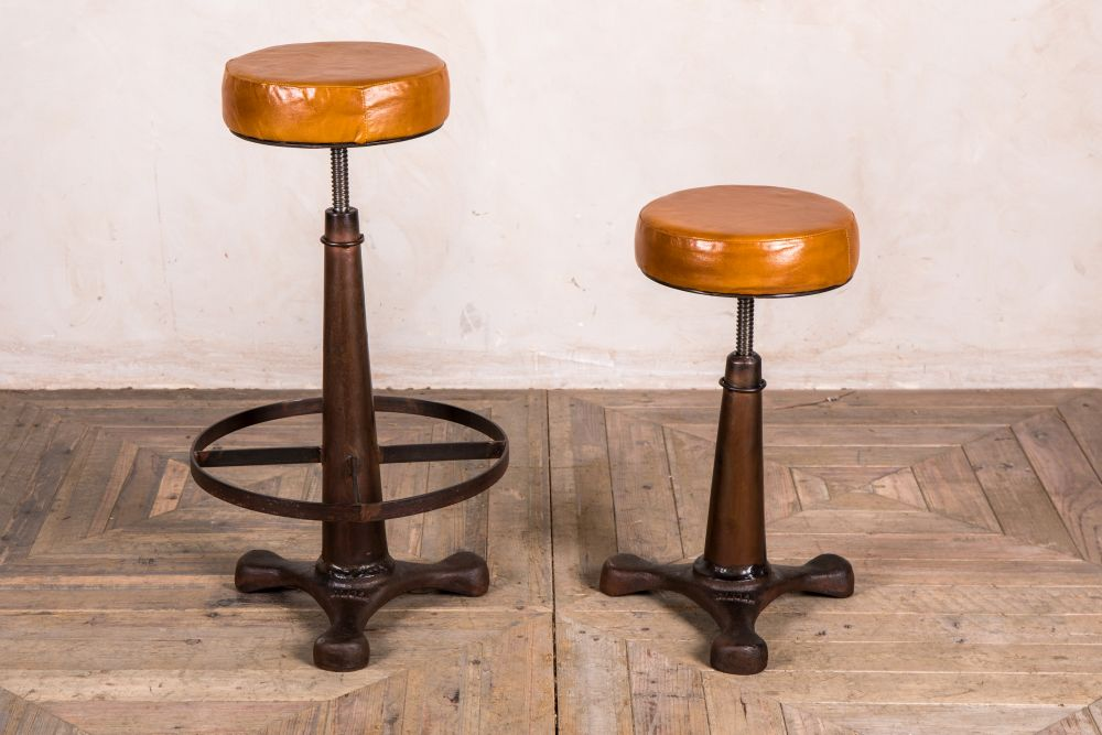 height adjustable machinist style bar stool