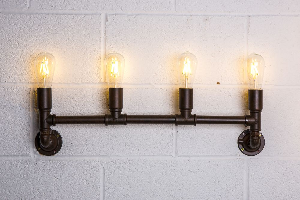 wall pipework light fitting
