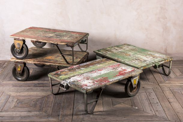 Trolley Coffee Table.Industrial Trolley Coffee Table Peppermill Interiors