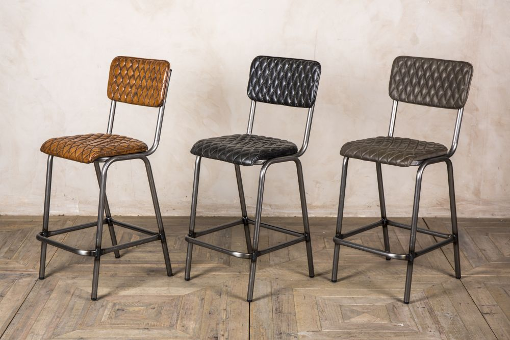 leather upholstered bar stools