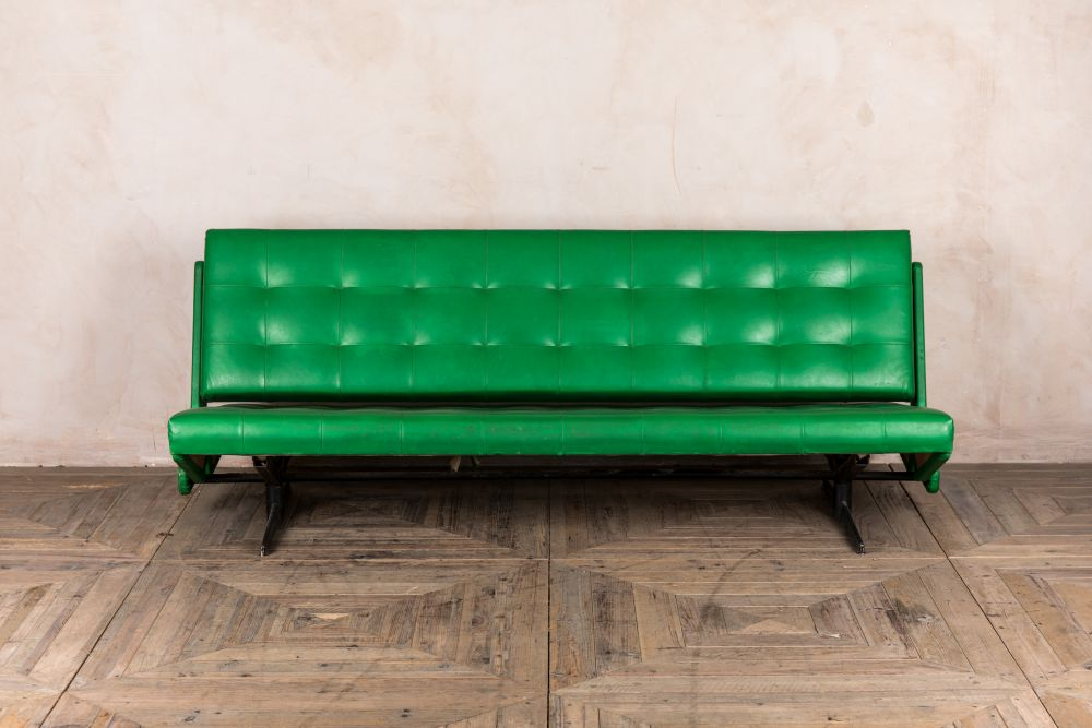retro lime green sofa bed