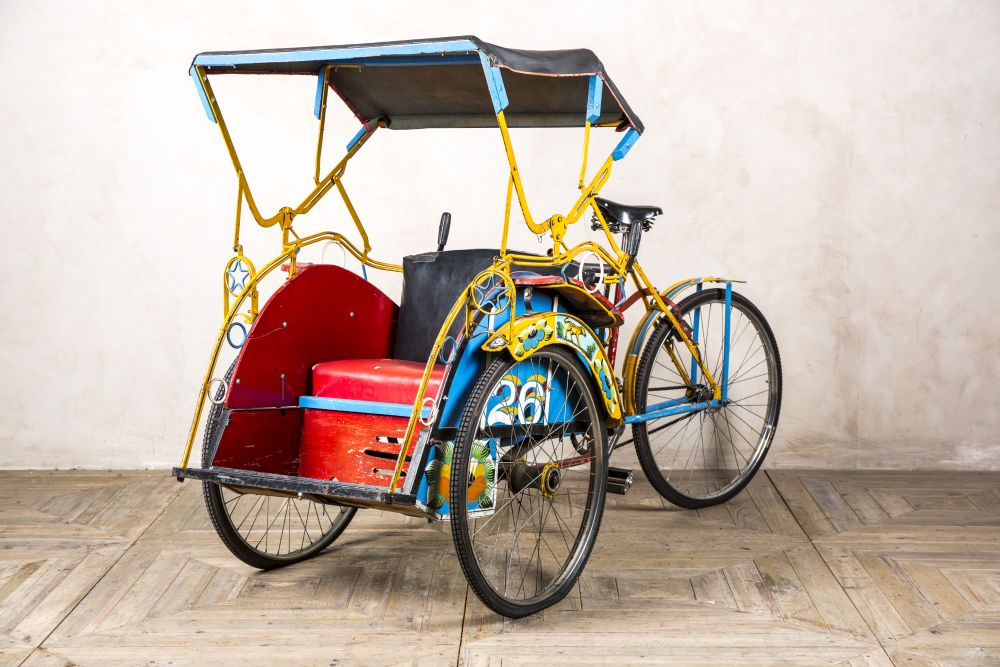 vintage indian rickshaw cart