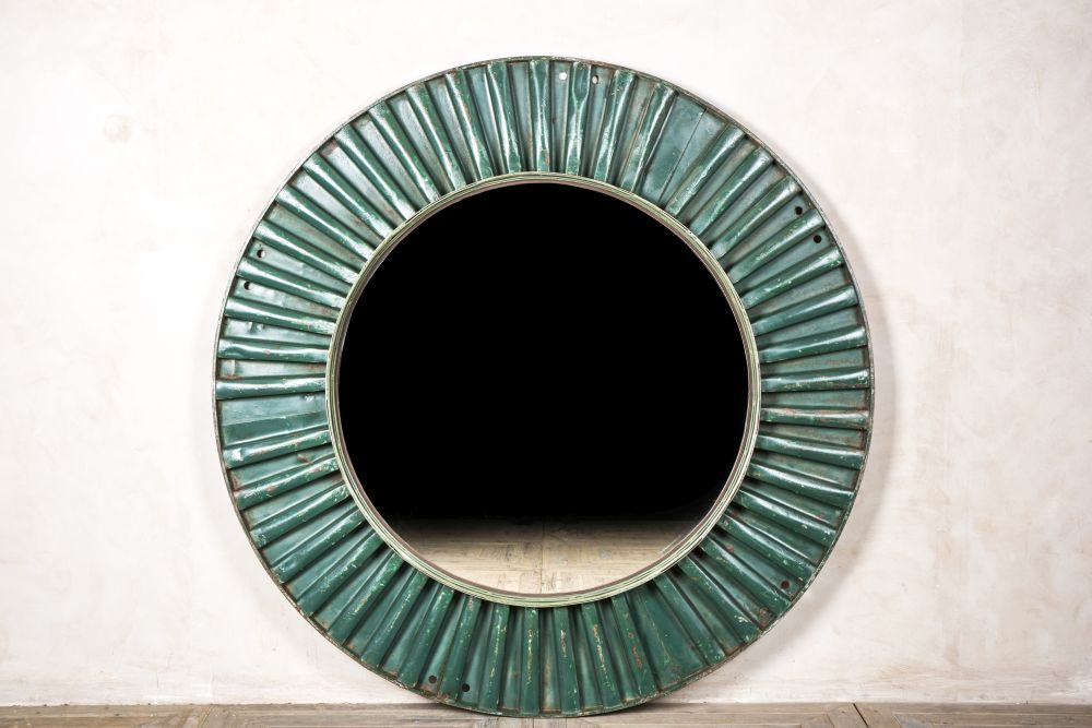 extra large industrial style mirror