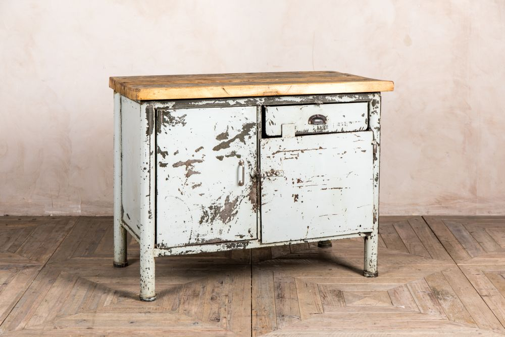 small industrial grey sideboard