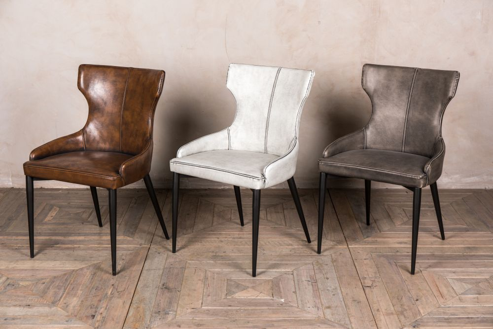 upholstered wingback dining chairs