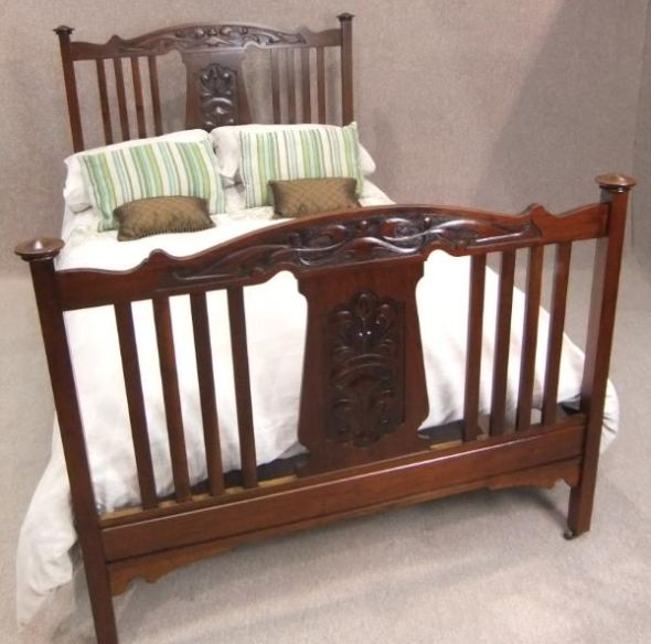 Art nouveau double bed