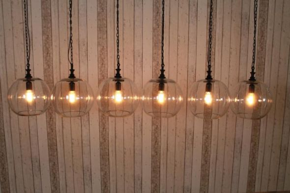 6 String Industrial Style Pendant Lights