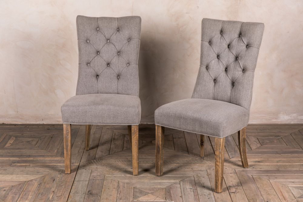 stone linen upholstered chair
