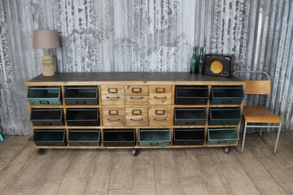 Sideboard Industrial Look ~ Vintage style sideboard with storage peppermill interiors