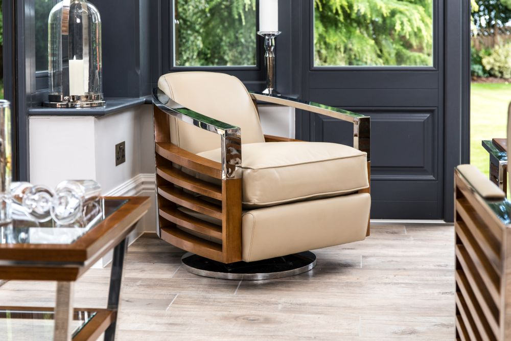 carter leather swivel chair