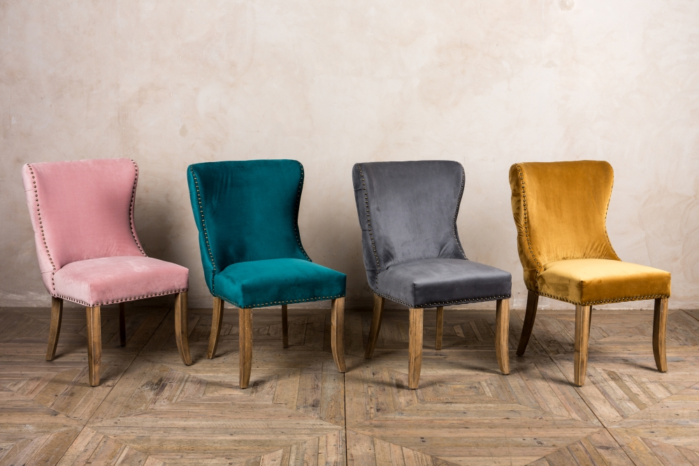 chamonix velvet side chair