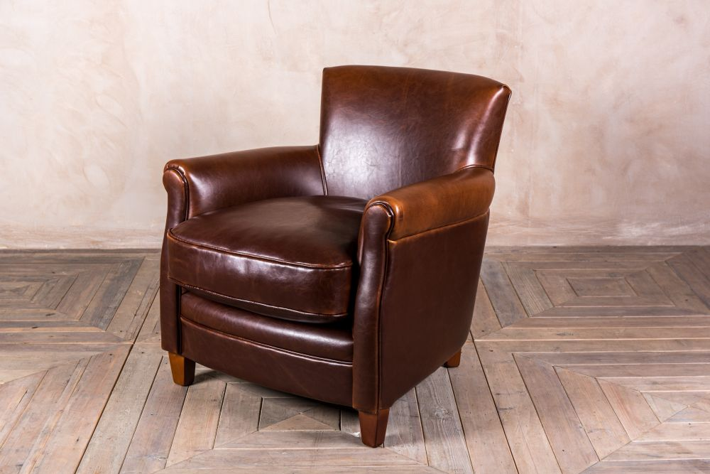 traditional leather armchair