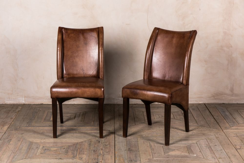 brown vintage style leather chair