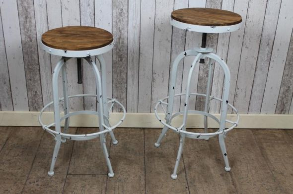 bar stools vintage industrial style steel swivel stools