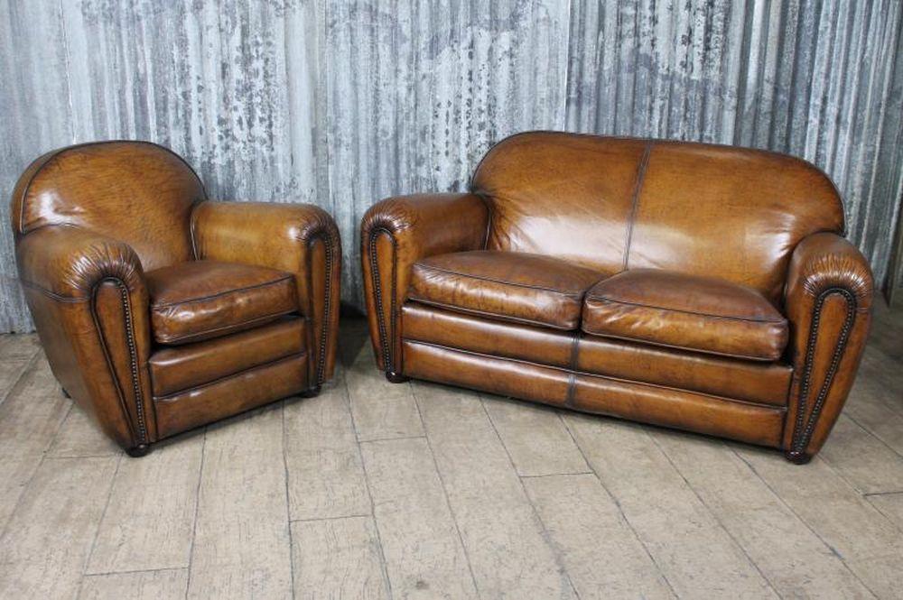Art Deco Style Leather Armchair The Fairmont