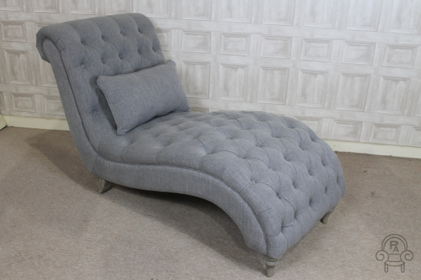 CHAISE LONGUE FRENCH STYLE UPHOLSTERED SOFA
