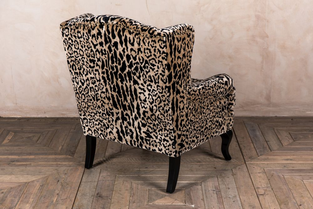 Leopard Print Armchair Velvet Pattern, Animal Print Furniture