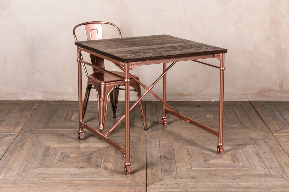 copper pipe table
