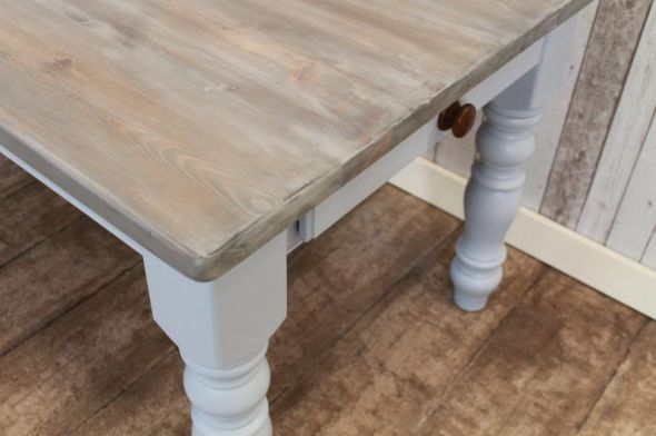 Superbe White Washed Pine Furniture. Modren Washed Bespoke Pine Dining Table  Painted Base Peppermill Interiors For