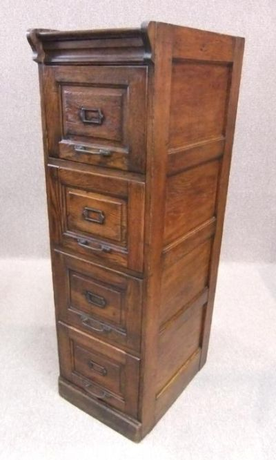 Edwardian oak filing cabinet