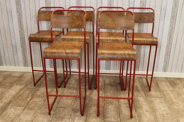 tall vintage stacking stools