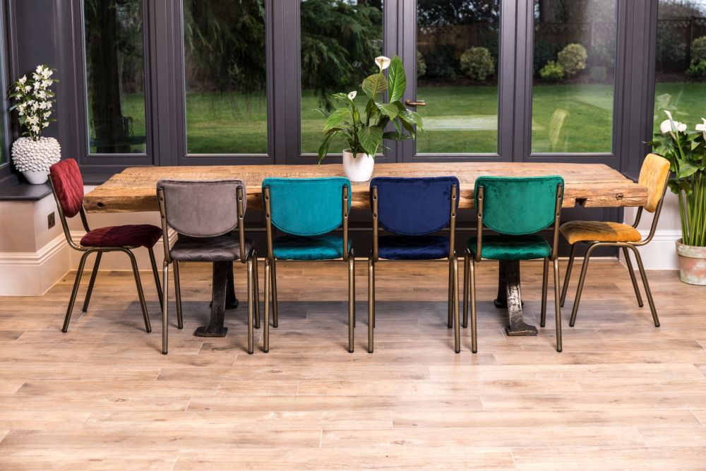 isobella velvet dining chairs