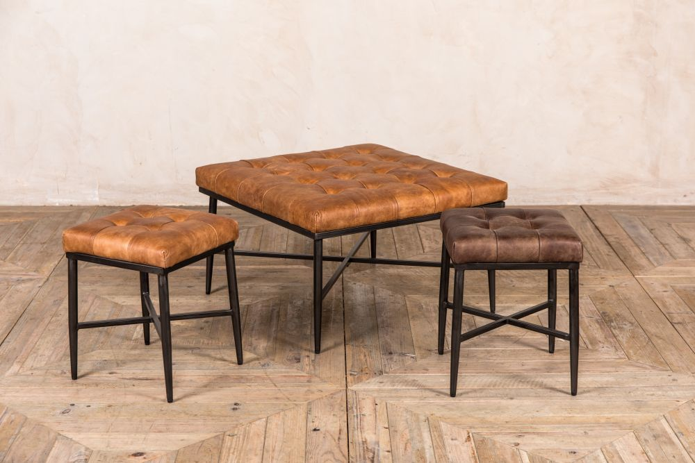kingsbridge leather footstool range