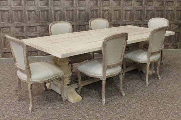 limed oak dining table