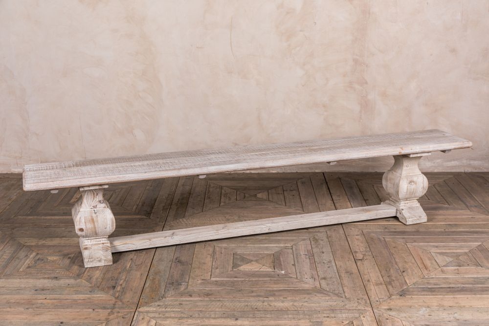 limed elm bench