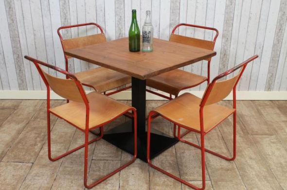 High Red Oak Furniture Industrial Restaurant Tables Handmade Peppermill Interiors