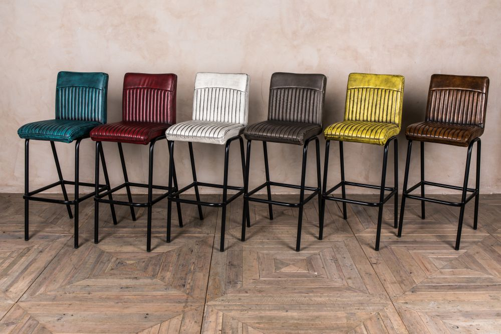 modern industrial style bar stools
