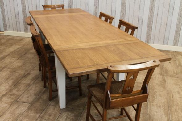 Extendable Oak Dining Tables Image Collections Table Set