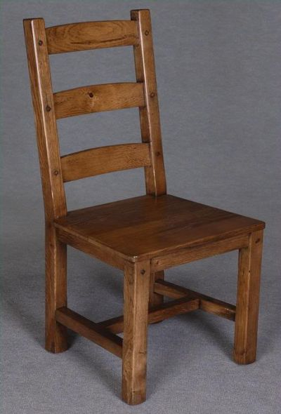 purchase cheap 06607 cef6e Disc - Solid oak Buckingham Ladderback Chair - Solid Seat